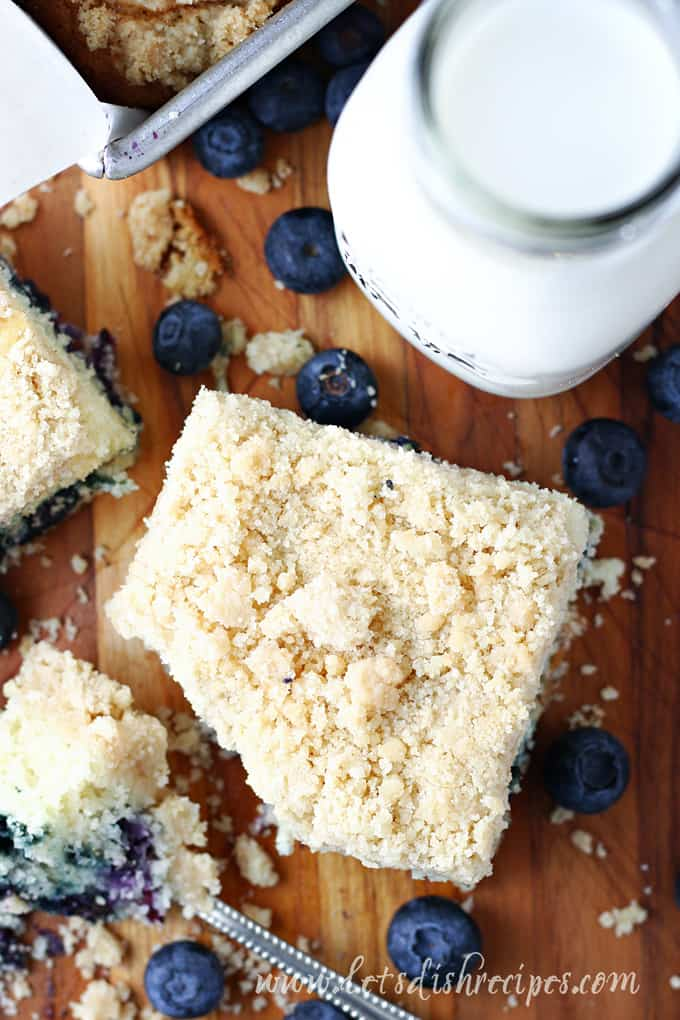 Blueberry Crumb Cake With Cake Mix