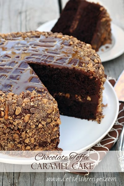 Chocolate Caramel Toffee Cake