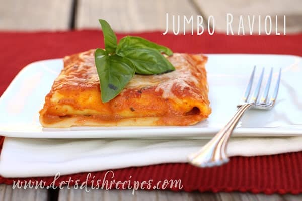 Jumbo Sausage Ravioli with Creamy Marinara Sauce