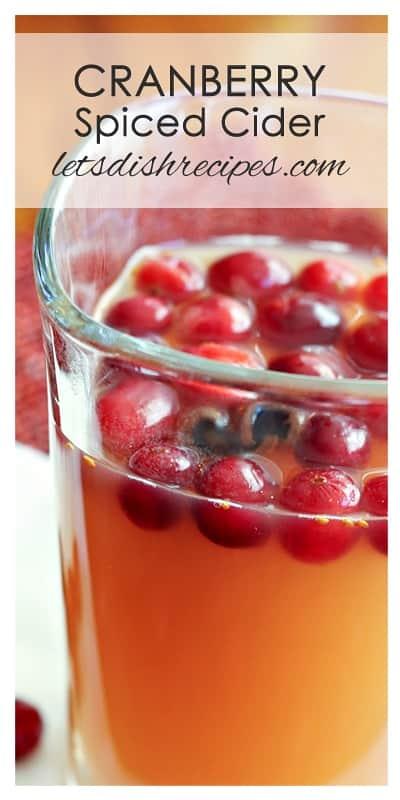 cranberry spiced cider