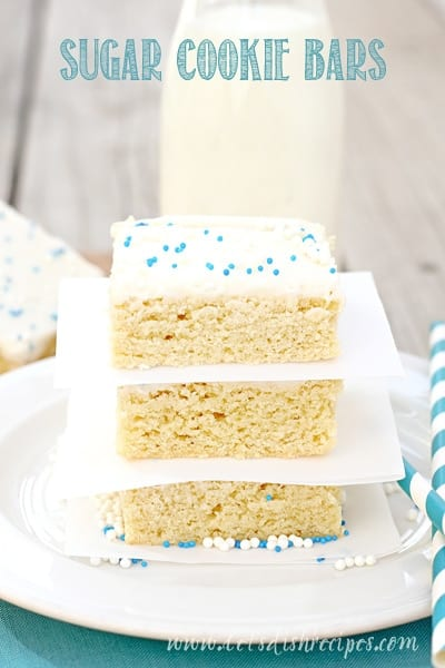 Sugar Cookie Bars
