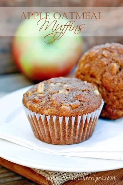 Apple Oatmeal Muffins