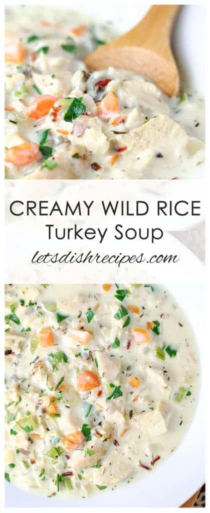Creamy Wild Rice Turkey Soup