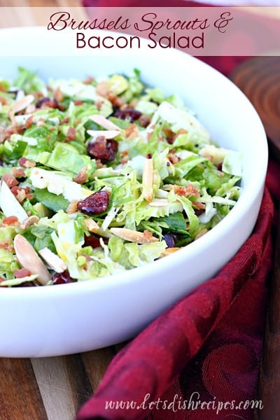 Brussels Sprouts & Bacon Salad with Cranberries