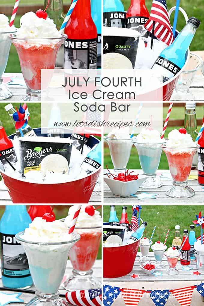 Independence Day Ice Cream Soda Bar