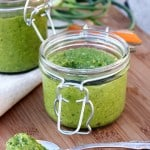 Garlic Scape and Basil Pesto