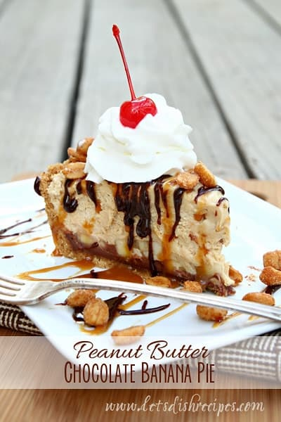 Peanut Butter Chocolate Banana Pie