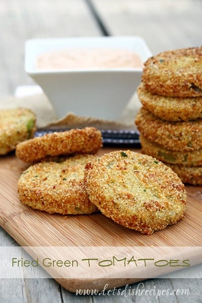 Best Fried Green Tomatoes with Barbecue Buttermilk Dipping Sauce
