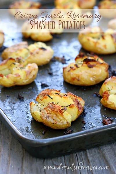 Crispy Garlic Rosemary Smashed Potatoes (Market Monday)