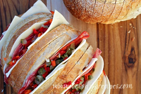 Baked Italian Sandwich Loaf