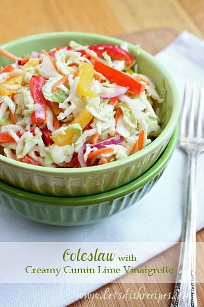 Coleslaw with Creamy Cumin Lime Vinaigrette
