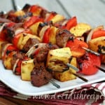 BBQ Steak and Pineapple Kabobs