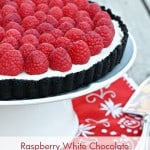 Raspberry White Chocolate Mascarpone Tart