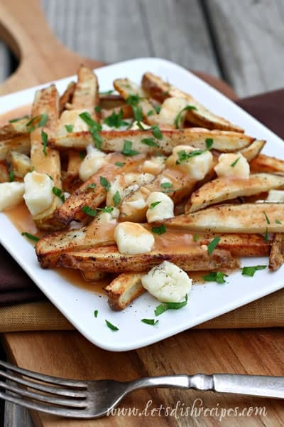 Poutine (French Fries with Cheese Curds and Gravy)