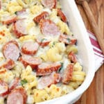 Spicy Smoked Sausage Alfredo Bake