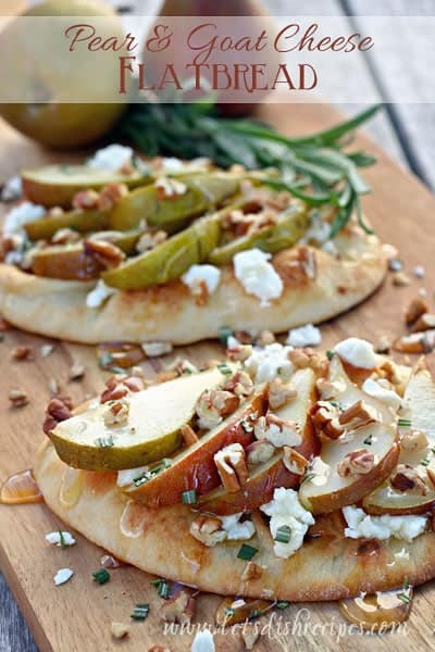 Pear and Goat Cheese Flatbread