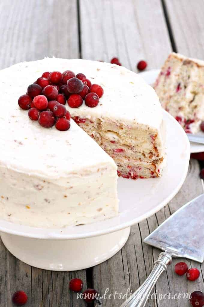 cranberry christmas cake lets dish recipes
