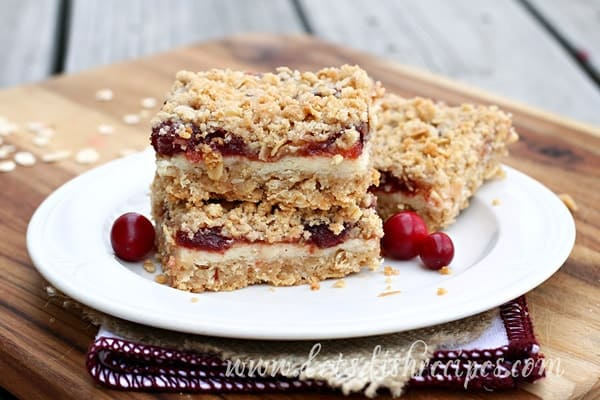 Cranberry Cream Cheese Bars with Quaker Whole Grain Oats