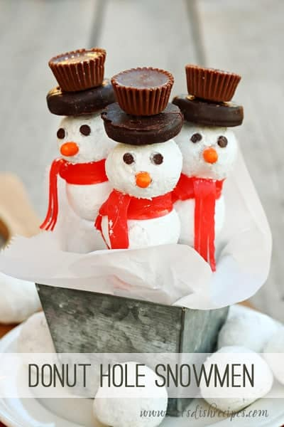Donut Hole Snowmen