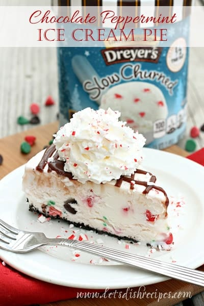 Chocolate Peppermint Ice Cream Pie