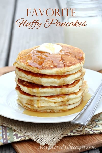 Favorite Big Fluffy Pancakes | Let's Dish Recipes