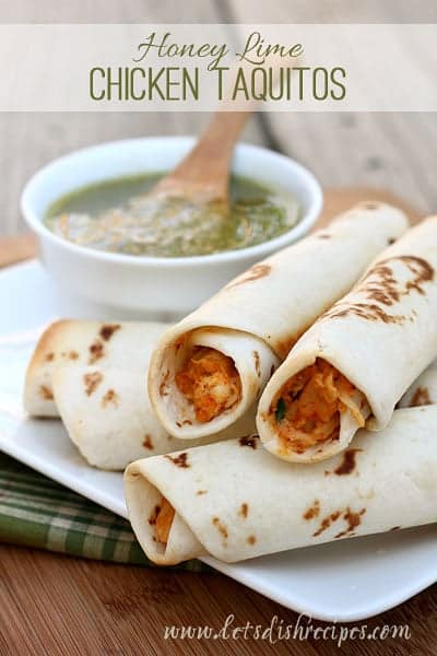 Honey-lime-Chicken-Taquitos