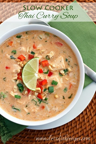 Slow Cooker Thai Curry Soup — Let's Dish Recipes