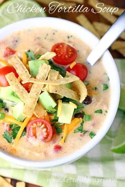 Creamy chicken tortilla soup lets dish recipes creamy chicken tortilla soup forumfinder Image collections