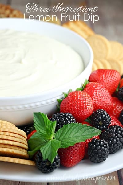Three Ingredient Lemon Fruit Dip