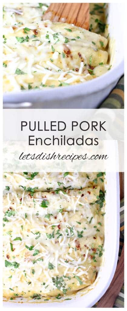 Pulled Pork Enchiladas with Creamy Green Chile Sauce