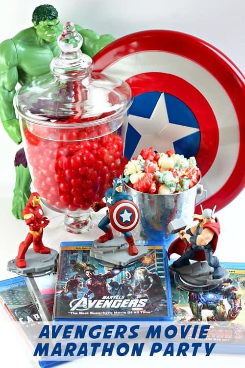 Avengers Movie Night and Superhero Party Popcorn