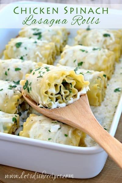 Chicken-Spinach-Lasagna-Rolls