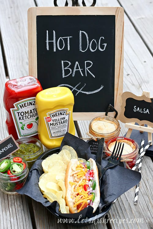 graduation party hot dog bar and mini mason jar pies let 39 s dish recipes. Black Bedroom Furniture Sets. Home Design Ideas