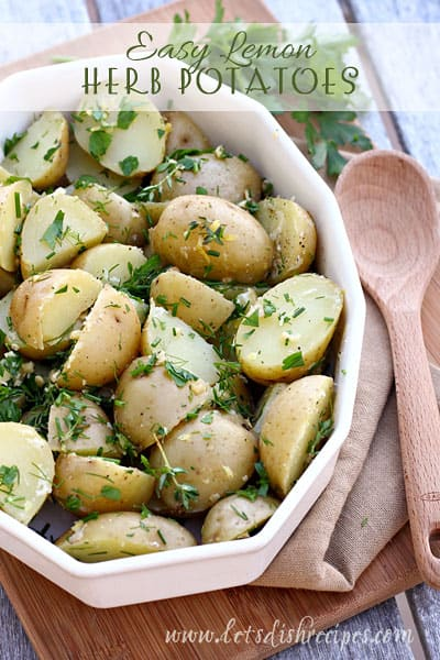 Easy Lemon Herb Potatoes