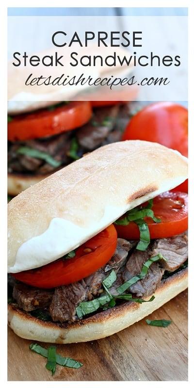 Caprese Steak Sandwiches