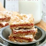 Strawberry Rhubarb Oatmeal Bars