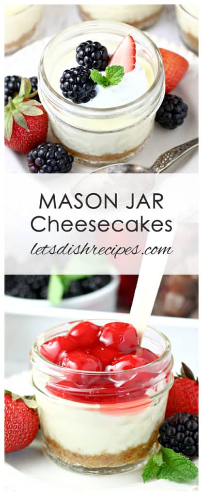 Mason Jar Cheesecakes