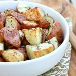 Roasted Garlic, Dill & Lemon Potatoes