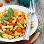 Tomato, Bean and Chickpea Salad