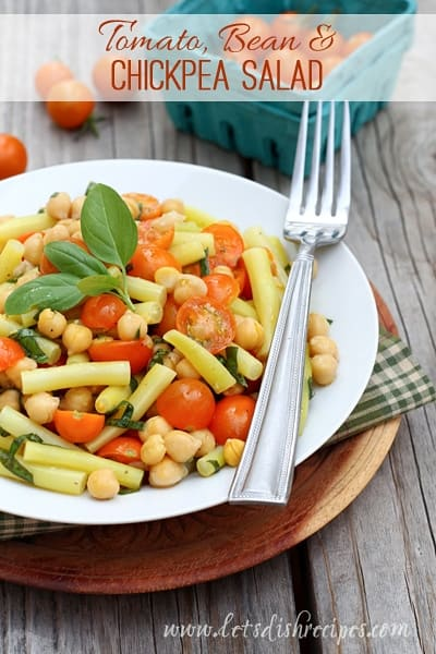 Tomato, Bean and Chickpea Salad (Market Monday)