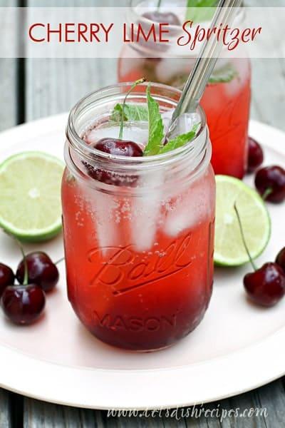 Cherry-Lime-Spritzer