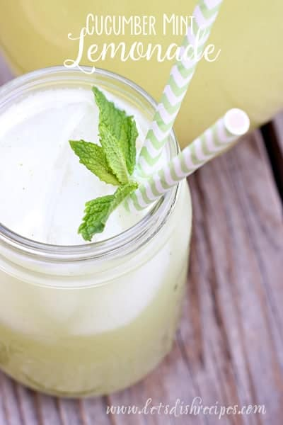 Cucumber Mint Lemonade