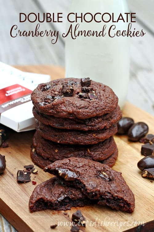 Double Chocolate Cranberry Almond Cookies