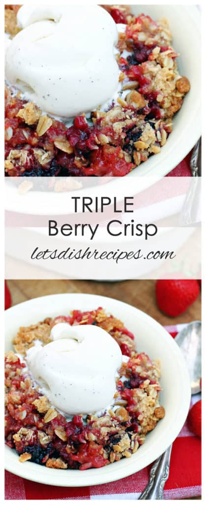 Triple Berry Crisp