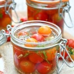 Quick Pickled Cherry Tomatoes.