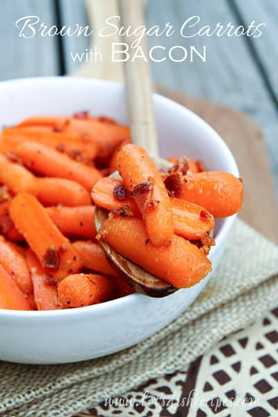 Brown Sugar Carrots with Bacon