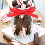 Chocolate Covered Peppermint Sticks