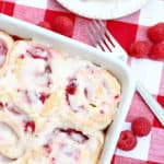 Raspberry Cream Cheese Sweet Rolls