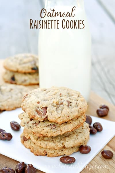 Oatmeal Raisinette Cookies