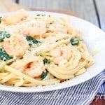 Easy Shrimp Scampi and Spinach Alfredo